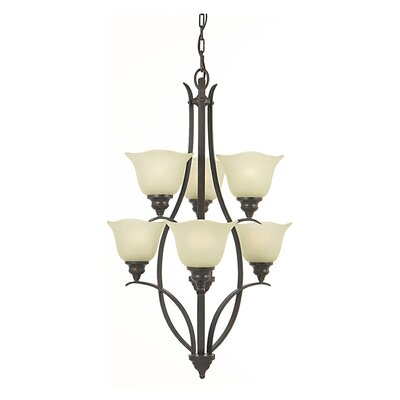 Dakota 6-Light Shaded Chandelier