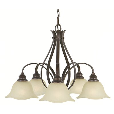 Dakota 5-Light Shaded Chandelier Finish: Grecian Bronze