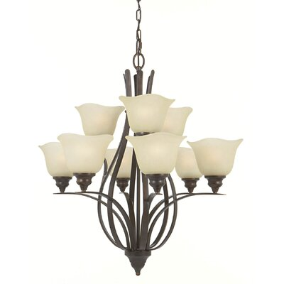 Dakota 9-Light Shaded Chandelier