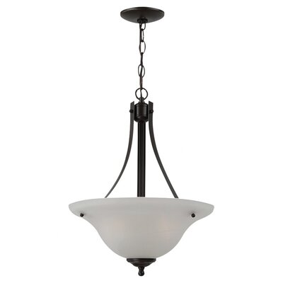 Hartford 2-Light Inverted Pendant Finish: Heirloom Bronze, Bulb Type: 100W A-19 Medium