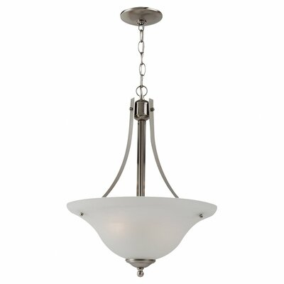 Hartford 2-Light Inverted Pendant Finish: Brushed Nickel, Bulb Type: 100W A-19 Medium