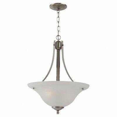 Hartford 2-Light Inverted Pendant Bulb Type: 100W A-19 Medium, Finish: Brushed Nickel