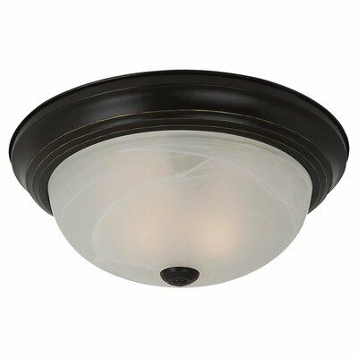 Hartford 2-Light Flush Mount Finish: Heirloom Bronze, Bulb Type: 13W GU24 Fluorescent