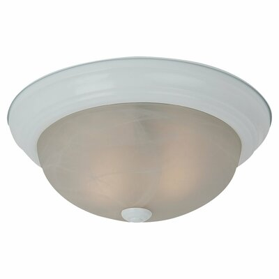 Hartford 2-Light Flush Mount Finish: White, Bulb Type: 13W GU24 Fluorescent