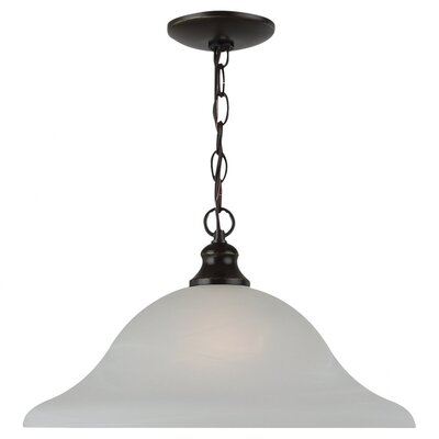 Hartford 1-Light Inverted Pendant Finish: Heirloom Bronze, Size: 9.5 H x 15.75 W