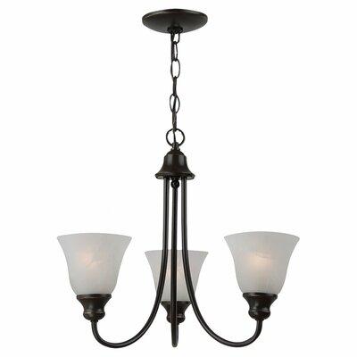Hartford 3-Light Shaded Chandelier Finish: Heirloom Bronze, Bulb Type: 13W GU24 Fluorescent