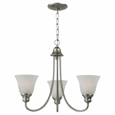 Hartford 3-Light Shaded Chandelier Finish: Brushed Nickel, Bulb Type: 13W GU24 Fluorescent