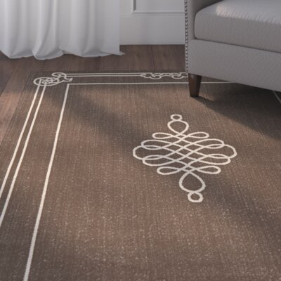 Alderman Chocolate / Cream Indoor / Outdoor Area Rug Rug Size: Runner 27 x 82