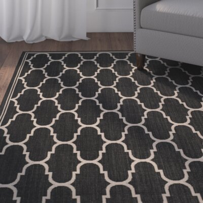 Altona Black/Beige Indoor/Outdoor Area Rug