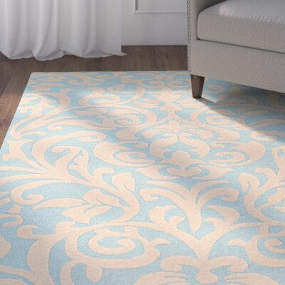 Mugge Hand-Tufted Blue/Beige Area Rug