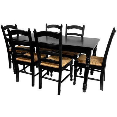 Adelphi 7 Piece Dining Set Finish: Black