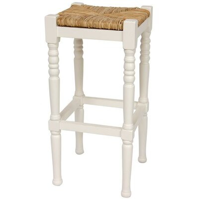 Adelphi 29 Bar Stool Frame Finish: White