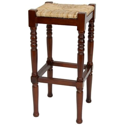Adelphi 29 Bar Stool Frame Finish: Cherry