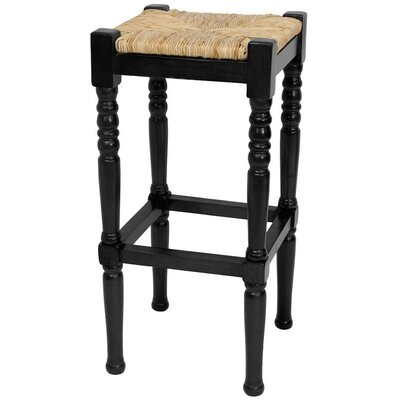 Adelphi 29 Bar Stool Frame Finish: Black