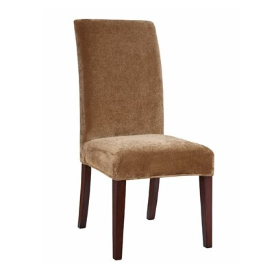 Lucinda Chenille Slipcover Upholstery: Pecan Moss