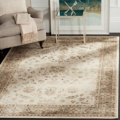 Pittsboro Stone & Mouse Oriental Ivory Area Rug Rug Size: Rectangle 4 x 57