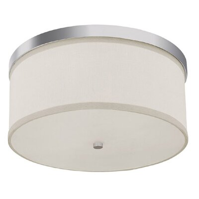 Osborne 3-Light Flush Mount Finish: Polished Nickel