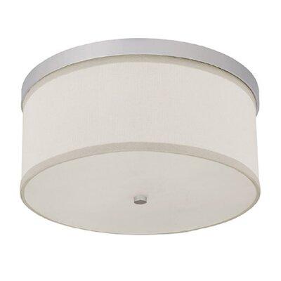 Osborne 3-Light Flush Mount Finish: Matte Nickel