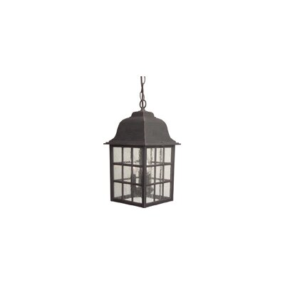 Oakhill 3-Light Outdoor Hanging Lantern Finish: Matte black