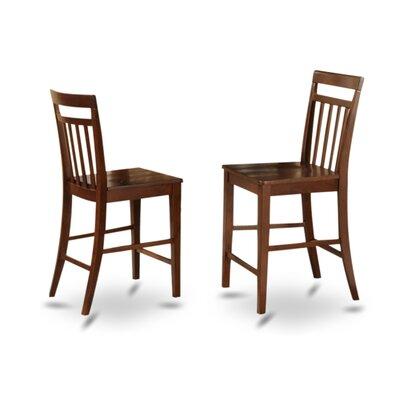 Tyrell 24 Bar Stool (Set of 2) Finish: Mahogany, Upholstery: Wood