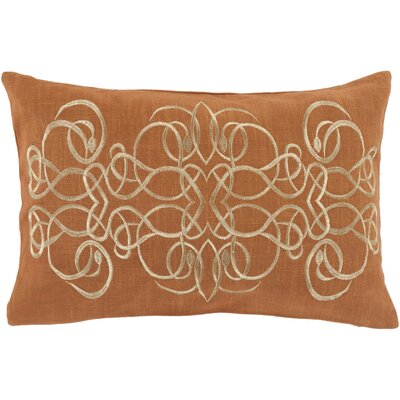 Capanagh 100% Linen Lumbar Pillow Cover Color: OrangeYellow