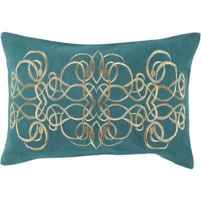 Capanagh 100% Linen Lumbar Pillow Cover Color: BlueYellow