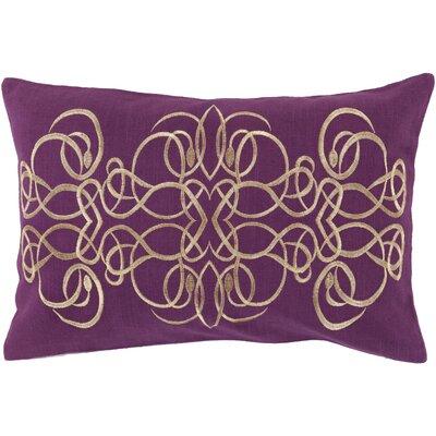 Capanagh 100% Linen Lumbar Pillow Cover Color: PurpleYellow