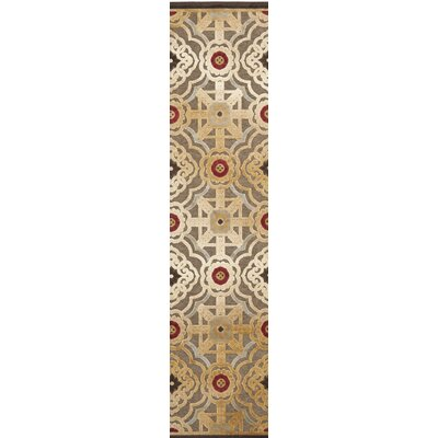 Imperial Palace Brown/Red Area Rug Rug Size: Runner 22 x 8