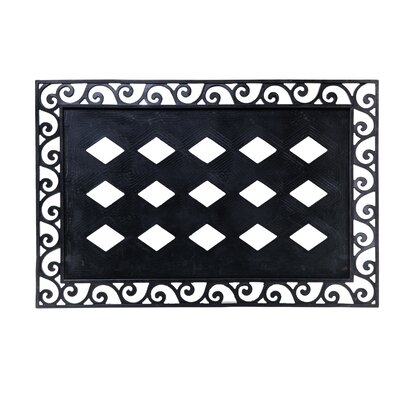 Poughkeepsie Scroll Emboss Frame Doormat
