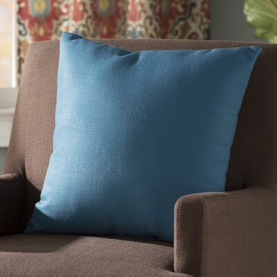 Bergfield Solid Throw Pillow Color: Moroccan Blue