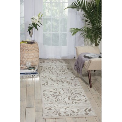 Tiverton Gray Area Rug Rug Size: Runner 23 x 8
