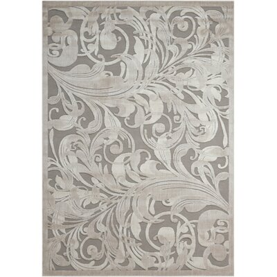 Tiverton Gray Area Rug Rug Size: 23 x 39