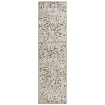 Tiverton Gray/Camel Area Rug Rug Size: Runner 23 x 8