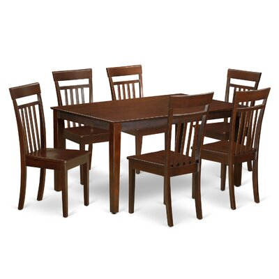 Smyrna 7 Piece Dining Set Finish: Mahogany