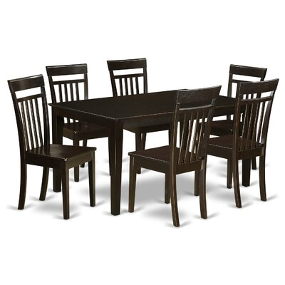 Smyrna 7 Piece Dining Set Finish: Cappuccino