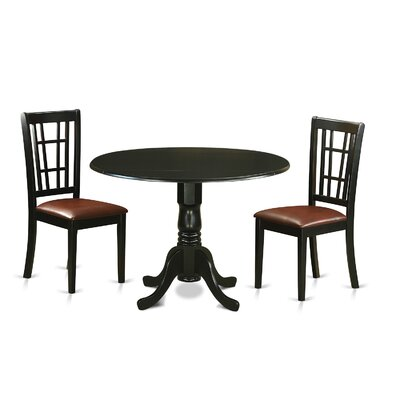 Gloucester 3 Piece Dining Set Upholstery: Faux Leather