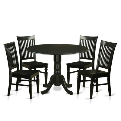 Gloucester 5 Piece Dining Set Finish: Black
