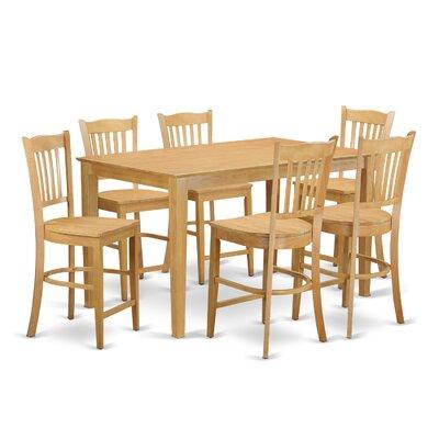 Smyrna 7 Piece Counter Height Pub Table Set