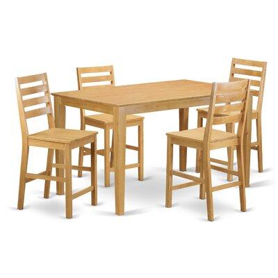 Charlton Home Smyrna 5 Piece Counter Height Pub Table Set