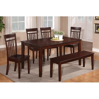 Smyrna 6 Piece Dining Set Finish: Mahogany