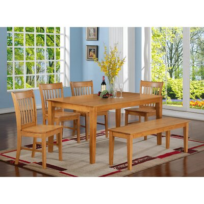Smyrna 6 Piece Dining Set Finish: Oak