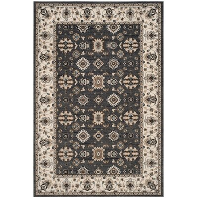Fryar Gray/Cream Area Rug Rug Size: Rectangle 53 x 76