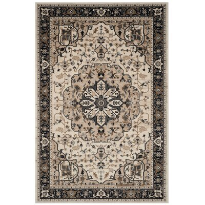 Fuhrman Cream/Navy Area Rug Rug Size: Square 7