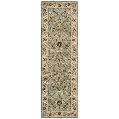 Fullwood Hand-Tufted Beige/Red Area Rug Rug Size: Runner 26 x 8