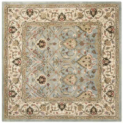 Fullwood Hand-Tufted Beige/Red Area Rug Rug Size: Square 6