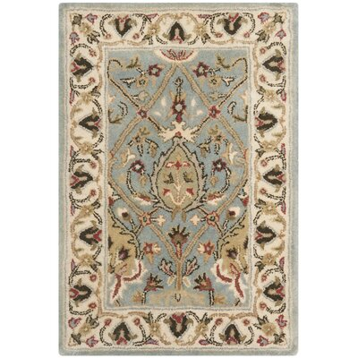 Fullwood Hand-Tufted Beige/Red Area Rug Rug Size: Rectangle 2 x 3