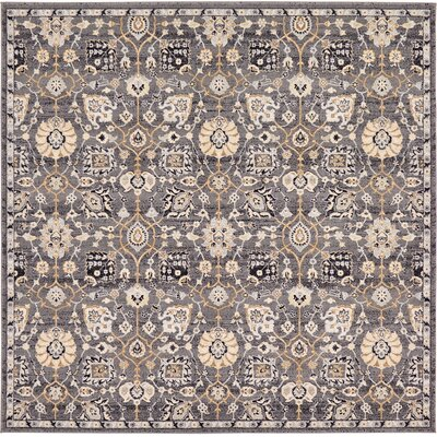 Fulmore Gray Area Rug Rug Size: Square 84