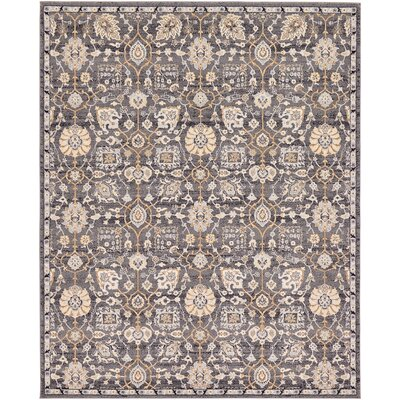 Fulmore Gray Area Rug Rug Size: 8 x 10