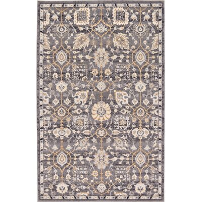 Fulmore Gray Area Rug Rug Size: 5 x 8