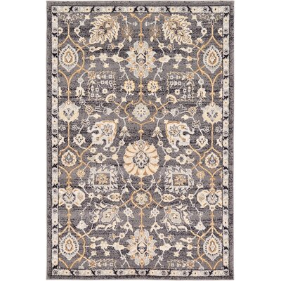 Fulmore Gray Area Rug Rug Size: 4 x 6